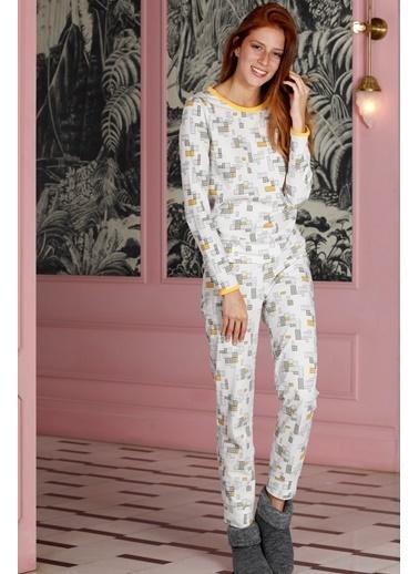 Hays Family Kadın Penye 2Li Pijama Takımı Sarı